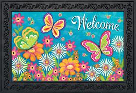 Butterfly Garden Spring Doormat