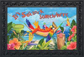 5 O'clock Parrot Summer Doormat