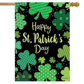 St. Patrick's Day Clovers House Flag