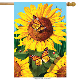 Sunflower Field Summer House Flag