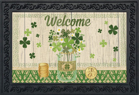 Lucky Clovers St. Patrick's Day Doormat