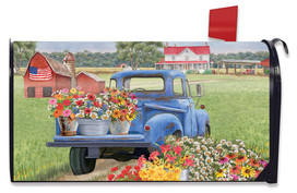 Day On The Farm Spring Magnetic Mailbox Cover