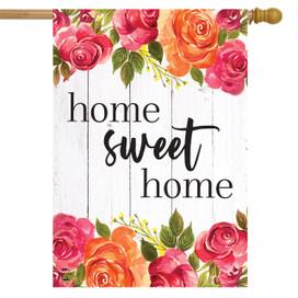 Farmhouse Home Sweet Home Spring House flag