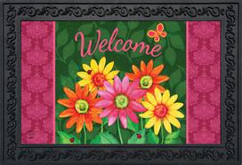 Welcome Daisies Spring Doormat