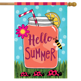 Welcome Summer Lemonade House Flag