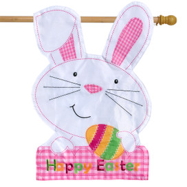 Easter Bunny Applique House Flag