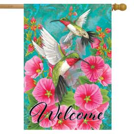 Hummingbird Dance Spring House Flag