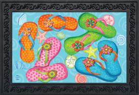 Summer Flip Flops Nautical Doormat
