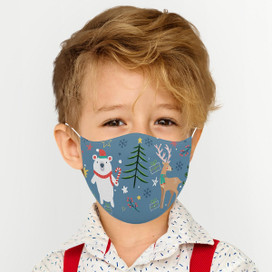 Winter Wonderland Reusable Cloth *Children's Size* Kids Face Mask