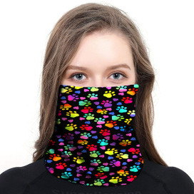 Pawprints Wrap-Around Face Covering Neck Gaiter