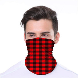 Red Buffalo Check Wrap-Around Face Covering Neck Gaiter