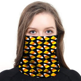 Candy Corn Wrap-Around Face Covering Neck Gaiter