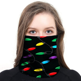 Christmas Lights Wrap-Around Face Covering Neck Gaiter