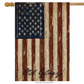 Old Glory Patriotic Primitive House Flag