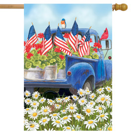 All American Truck Spring House Flag
