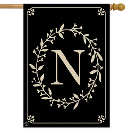 Briarwood Lane Classic Monogram Letter N Double-Sided House Flag