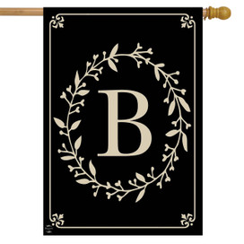 Briarwood Lane Classic Monogram Letter B Double-Sided House Flag