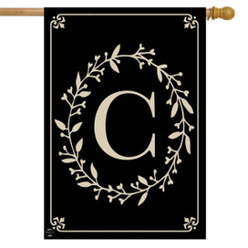 Briarwood Lane Classic Monogram Letter C Double-Sided House Flag