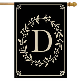 Briarwood Lane Classic Monogram Letter D Double-Sided House Flag