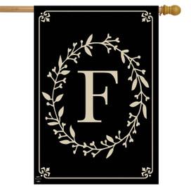 Briarwood Lane Classic Monogram Letter F Double-Sided House Flag
