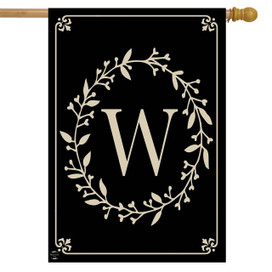 Briarwood Lane Classic Monogram Letter W Double-Sided House Flag