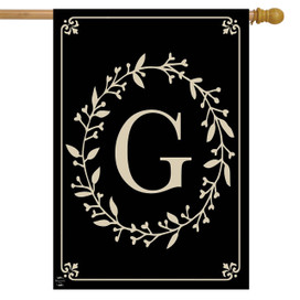 Briarwood Lane Classic Monogram Letter G Double-Sided House Flag