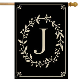 Briarwood Lane Classic Monogram Letter J Double-Sided House Flag