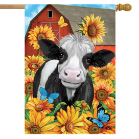 Happy Cow Summer House Flag