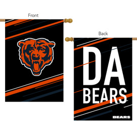 Chicago Bears Slogan House Flag