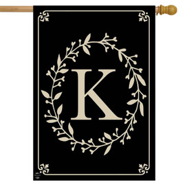 Briarwood Lane Classic Monogram Letter K Double-Sided House Flag