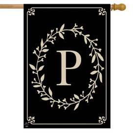 Briarwood Lane Classic Monogram Letter P Double-Sided House Flag