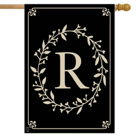 Briarwood Lane Classic Monogram Letter R Double-Sided House Flag