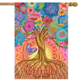 Tree of Life Inspirational House Flag