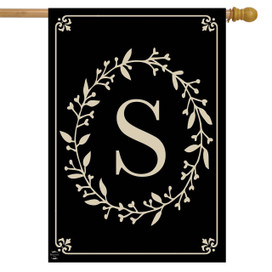 Briarwood Lane Classic Monogram Letter S Double-Sided House Flag