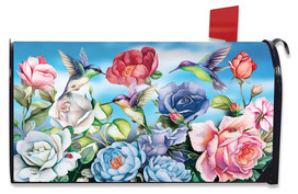 Hummingbird and Roses Spring Mailbox Cover