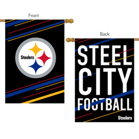 Pittsburgh Steelers Slogan House Flag