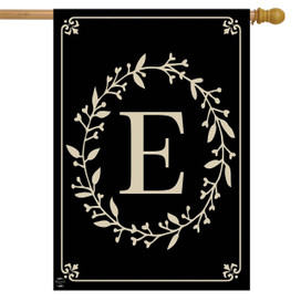 Briarwood Lane Classic Monogram Letter E Double-Sided House Flag