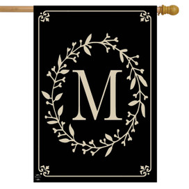 Briarwood Lane Classic Monogram Letter M Double-Sided House Flag