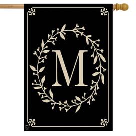 Briarwood Lane Classic Monogram Letter M Double-Sided House Flag