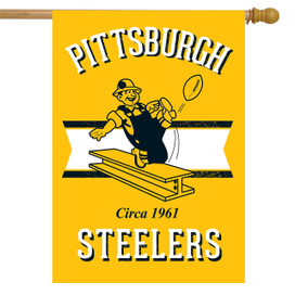 Retro Pittsburgh Steelers House Flag