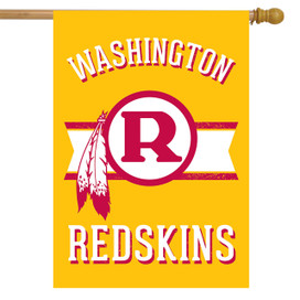 Retro Washington Redskins House Flag