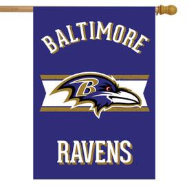 Retro Baltimore Ravens Licensed NFL House Flag