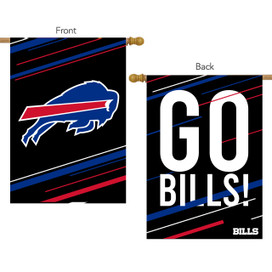 Buffalo Bills Slogan House Flag