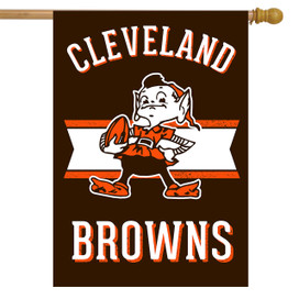 Retro Cleveland Browns Licensed NFL House Flag