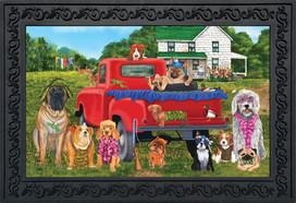 Country Pups Summer Doormat