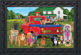 Country Pups Summer Doormat