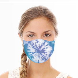Blue Tie Dye Reusable Cloth Face Mask