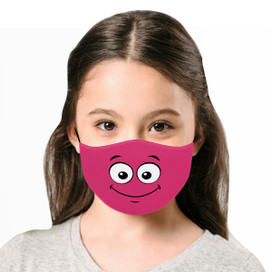 Smile - Pink Cloth *Children's Size* Kids Face Mask