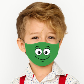 Smile - Green Cloth *Children's Size* Kids Face Mask