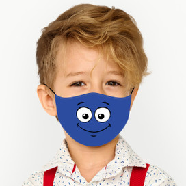 Smile - Blue Cloth *Children's Size* Kids Face Mask